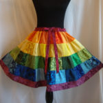 the rainbow rhumba skirt.