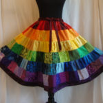 the rainbow rhapsody skirt.